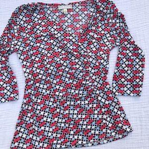 Dana Buchman Tops - Dana Buchman 3/4 sleeve geometric print top